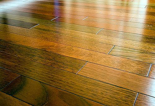 Cleaning wood tile floors